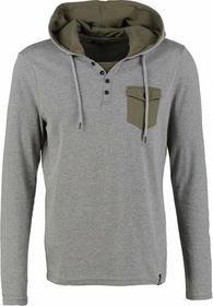 YOUR TURN Bluzka z długim rękawem grey/olive YT-BAS0-0110