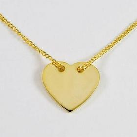 Łańcuszek celebrytka - serce N22/0S1 (N22/0 serce złote)