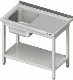 Stalgast Stół ze zlewem jednokomorowym z półką W1200xD600xH850 mm (980706120)