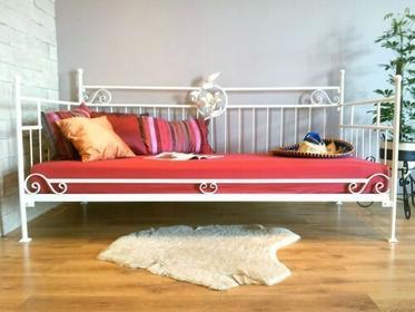 Grupa Lak System Łóżka metalowe Metalowe łóżko do salonu sypialni 90x200 WZÓR