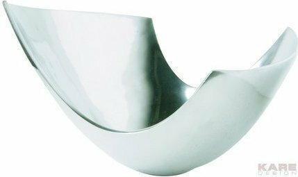 Kare Design Metropolis Srebrna Misa aluminiowa, Chalet Lounge 63557