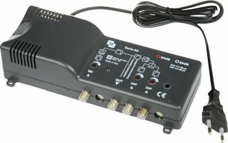 AEV Wzmacniacz MAS843 z zasilaczem Radio-UHF-UHF reg. 32 dB, 117 dBuv