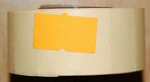 Rolka do metkownicy jednorzędowej - 2,1x1,2cm pomarańczowa prosta 00425