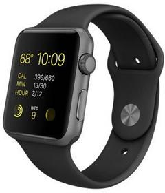Apple Watch 38 mm Aluminium / Gwiezdna szarość / Czarny