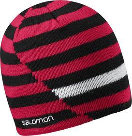 Salomon Czapka zimowa dwustronna Stripe Beanie - Black/Matador-X/White