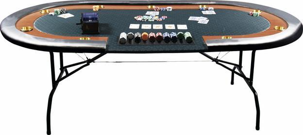 Stół do gry w poker HIGH ROLLER 210x105x73 P-0100