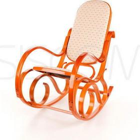 Calviano Fotel bujany jasne drewno i materiał - jasne drewno i materiał