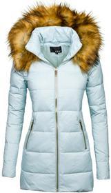 LJR Błękitna kurtka zimowa damska Denley 8070 8070/BŁĘKITNY/S Niebieski