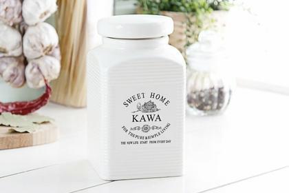 Sweet home Szczepan Pojemnik ceramiczny na kawę KWADRATOWY II 0,9 l