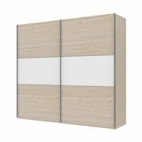 Tvilum Save 250 przesuwne drzwi - biały/dąb