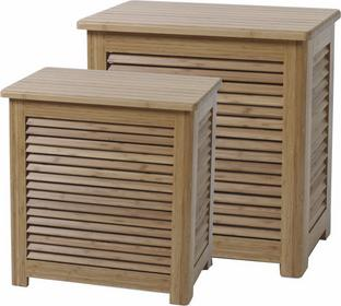 Cinas Kosze na pranie Cinas drewno bambusowe 2 sztuki