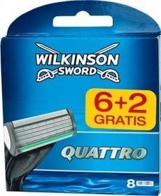 Wilkinson Sword Quattro nożyki 6 + 2 gratis