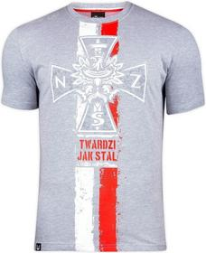 Surge Polonia T-shirt T-shirt Krzyż NSZ jasno szara