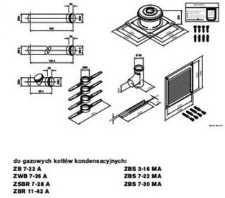 Junkers Przewód powietrzny lub spalinowy O 80 AZB 893 7 719 002 479 7719002479