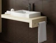 Aquaform ANCONA Konsola pod umywalkę bez otworu 120 prawa Legno jasne 0401-2230