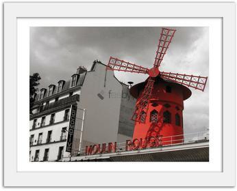 Feeby Moulin Rouge, Obrazy w ramie - Biały
