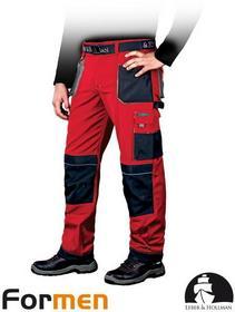 Leber & Hollman CZERWONE spodnie ROBOCZE DO PASA LH-FMN-T (CBS) promocja!