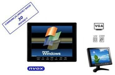 NVOX MONITOR SAMOCHODOWY LUB WOLNOSTOJĄCY LCD 8 Z VGA PC808
