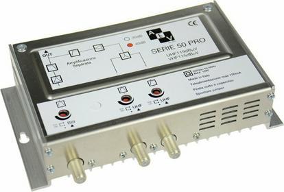 AEV Wzmacniacz MAS1940U Pro z zasilaczem Radio-UHF-UHF reg. 40 dB, 119 dBuv