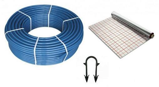 KAN Pakiet podłogowy rura 16x2,0 PE-RT 600m+ Folia 100m2 + klipsy 1200szt.