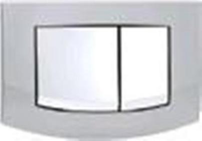 TECE Ambia - przycisk spłukujący do WC - ramka: chrom-matowy; przyciski: chrom-p