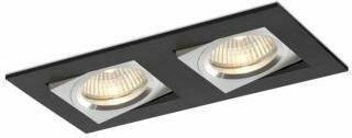 BPM Lighting BPM Oczko stropowe podwójne kawdrat, czarne - wychylne