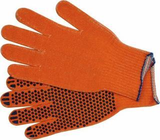 Vorel Rękawice bawełniane, nakrapiane, pomarańczowe, sfd 74102