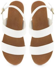 Białe sandały Daria biały