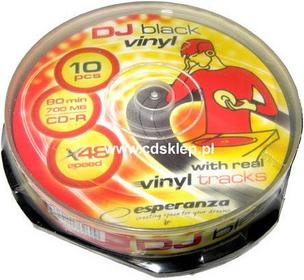 Esperanza CD-R Vinyl Black 700MB (szpula 10 szt.)