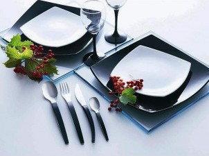 Luminarc Talerz obiadowy czarny Quadrato 26 cm