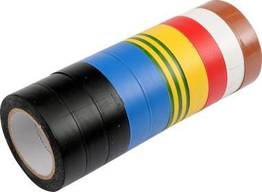 Vorel Taśma izolacyjna pvc 19mm x 20m, mix, kpl. 10szt 75028