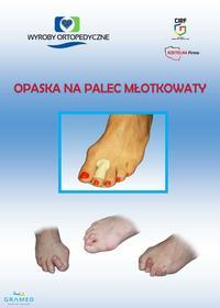 Ortopedyczna, skórzana opaska na palce młotkowate z otworem na odcisk. /Dokonaj