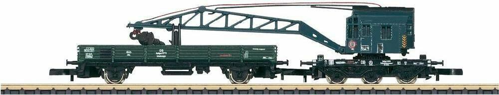 Marklin World Zestaw wagonów dźwigowych Z EP Niemieckiej Kolei Federalnej