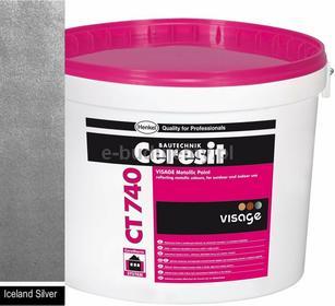Ceresit CT 740 VISAGE Farba ozdobna Metallic 4L - Iceland silver