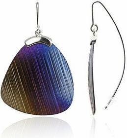 AnKa Biżuteria Kolczyki srebrne tytanowe -Kolory tęczy