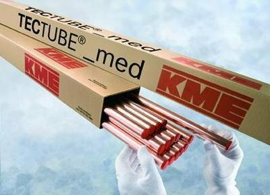 KME Rura miedziana fi 54 x 2,0 x 5000 mm TWARDA do gazów medycznych. -54x2,0x