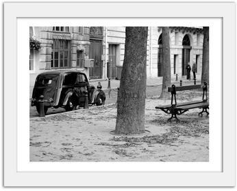 Feeby Classic cars, Obrazy w ramie - Biały