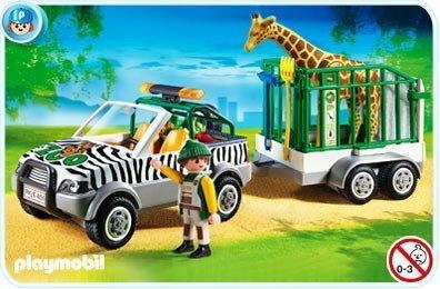 Playmobil Samchód ZOO z przyczp 4855