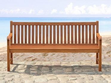 Beliani Drewniana lawka ogrodowa 180 cm TOSCANA brazowy