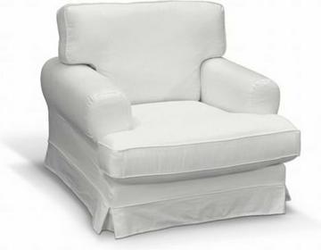 Dekoria Pokrowiec na fotel Ekeskog Cotton Panama Old White (biały)