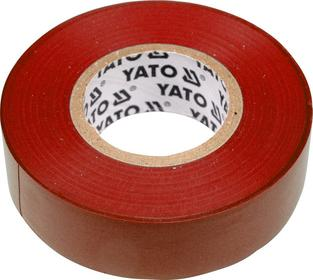 Yato Taśma elektroizolacyjna 19mmx20mx0,13mm, czerwona YT-8166