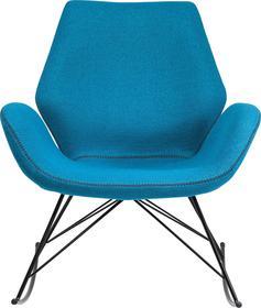 Kare Design Florida Turkusowy Bujany Fotel Tkanina - 79090