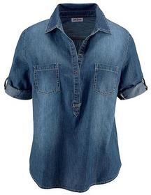 Bonprix tunika dżinsowa, rękawy 3/4 niebieski stone 975107