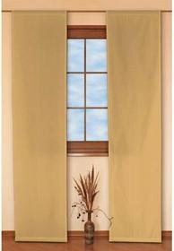 Dekoria Panel 2 sztuki Taffeta miodowo-beżowy w delikatne prążki