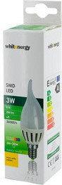 Whitenergy Żarówka LED 5xSMD3030 CA37 E14 3W 230V ciepłe biała  mleczne 09198