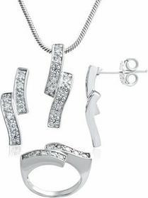 AnKa Biżuteria Srebrny komplet: 3 w 1 Promocja! Kolczyki Wisiorek Pierścionek
