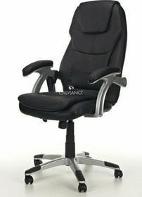CALVIANO Fotel Biurowy RUSH Z MASAŻEM I GRZANIEM Czarny - Fotel Czarny