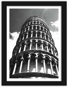 Feeby Krzywa wieża, Obrazy w ramie - Czarny