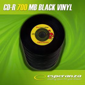 Esperanza CD-R 700MB/80MIN 52xSpeed VINYL BLACK (Szpindel 100 szt.)