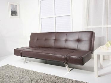 Beliani Rozkladana sofa kolor brazowy ruchome podlokietniki BRISTOL